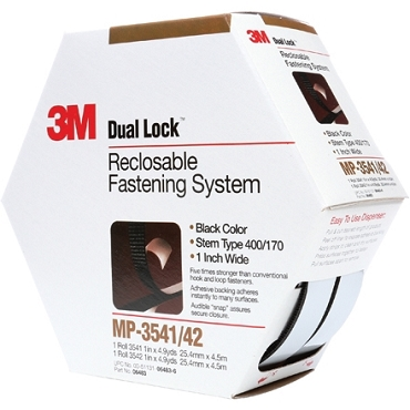 3M MP3541/42 Dual Lock Mini Pack Fasteners Black 1