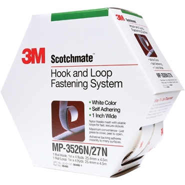 3M MP3526N/MP3527N Scotchmate White Combo Pack Fasteners 1